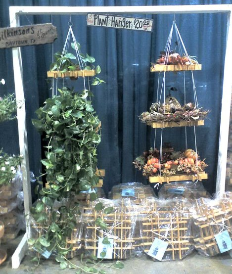 Texas Wood Crafts, colgador para tiestos / hanging planter